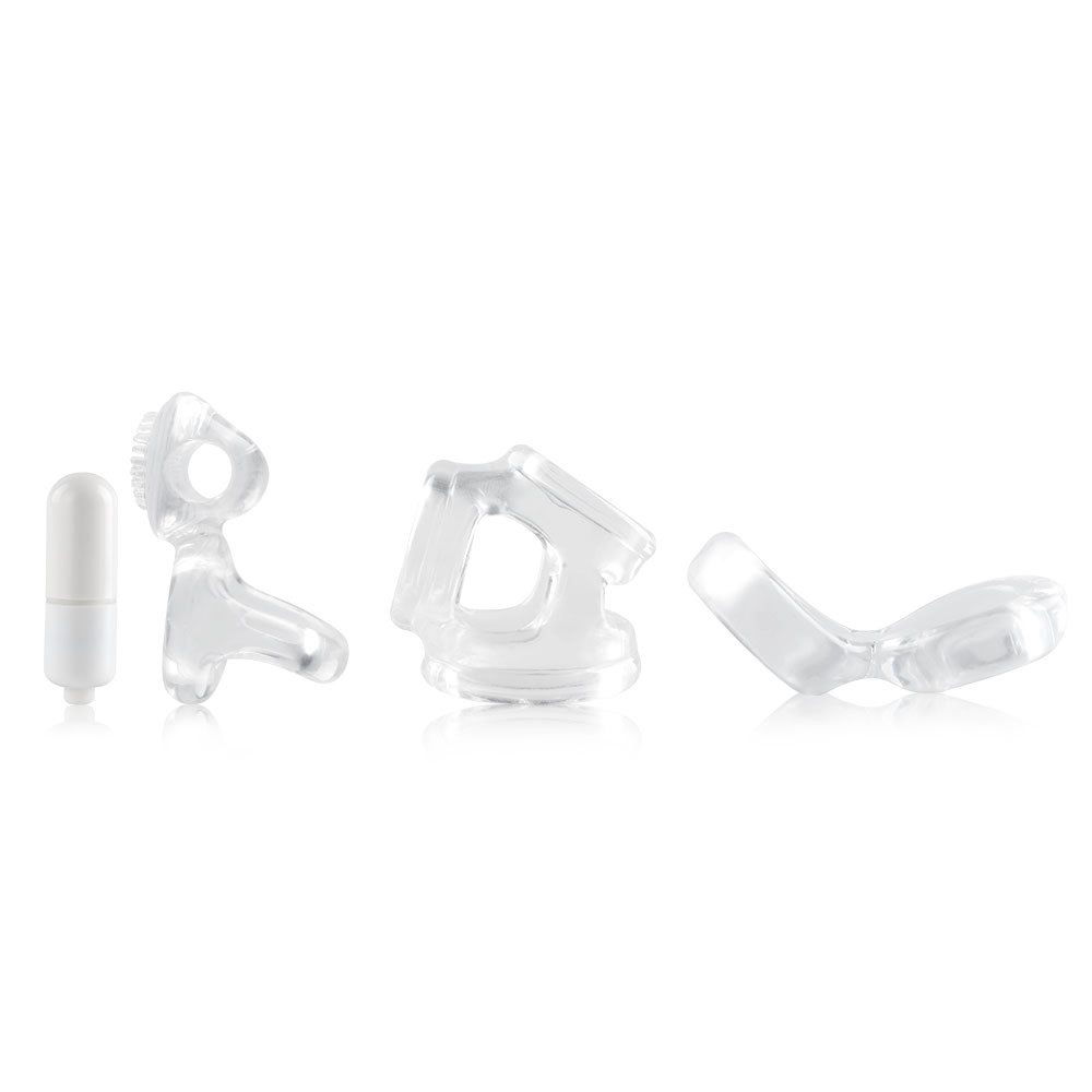 3 Pieces Vibrator Included Cock Ring Set