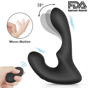 S-Hande Silicone Prostate Massager Electric Vibrating Butt Plug